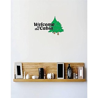 Design with Vinyl 1 C 2286 Decor Item Welcome to The Cabin Image Quote Wall Decal Sticker, 12 x 24-Inch