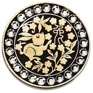 Bella Crystal Zodiac Gold-Rabbit Hat Clip Set