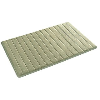 Duck River Textiles Fred Reversible Memory Foam Bath Mat In Sage/Chocolate, 17 X 24 Inch , Solid