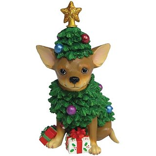 Westland Giftware Chihuahua Christmas Tree Figurine