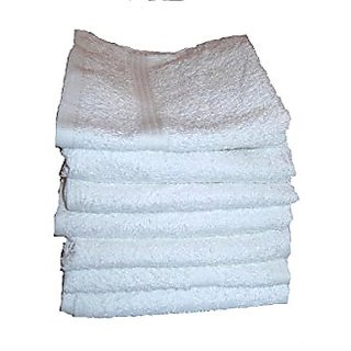 Multi Pack of Cotton Washcloths - White 13x13 - 100% Pure Ringspun Cotton Terry - 7 Pieces