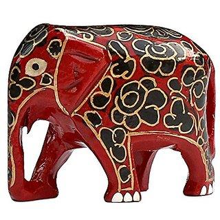 SouvNear 2.5 Inch Cute Baby Elephant Figurine Hand-Painted Amazing Statue in Paper Mache Sculpture Decorative Centerpiec