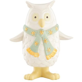 Lenox Holiday Bobbles Owl with Scarf Figurine