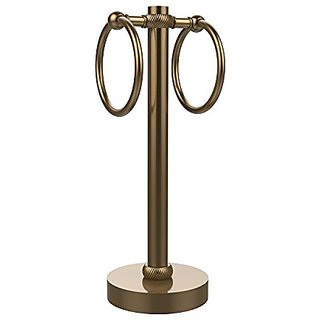 Allied Brass 953T-BBR 2-Ring Guest Towel Holder, Brushed Bronze