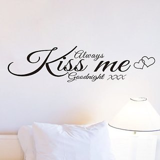 Always Kiss Me Goodnight Wall Stickers DIY Mural Art Decal Self Adhesive Removable PVC Wallpaper Decor