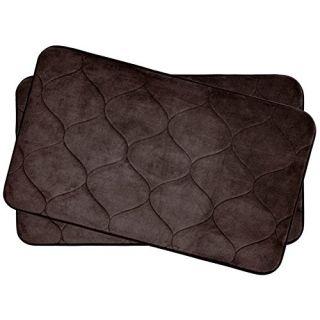 Bounce Comfort Palace Extra Thick Premium Plush 2 Piece Memory Foam Bath Mat Set with BounceComfort Technology, 17