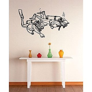 Design with Vinyl 3 Zzz 170 Scuba Divers Image Wall Decal Sticker, 20 x 30-Inch, Black
