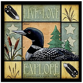 Lodge Series Loon Set of 4 Stone Coasters