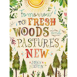 Oopsy Daisy Fresh Woods and Pastures by Katie Daisy Posters That Stick Wall Decal, 18 by 24-Inch