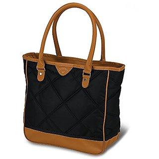 Callaway Womens Up Town Tote Bag, Black/Brown