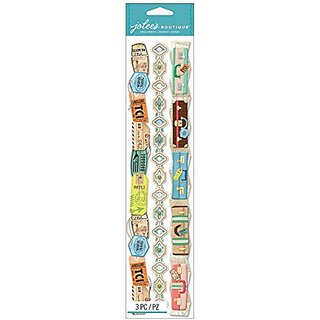 Jolees Boutique Dimensional Border Stickers, Travel Borders
