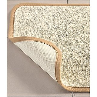 Microfiber Absorbing Bath Mat Bathroom Rug Size: Extra Small, Color: Beige