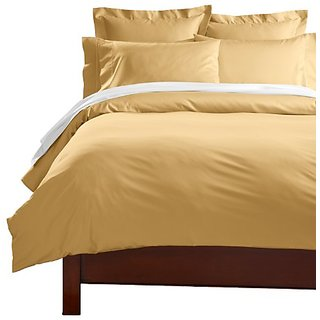 CUDDLEDOWN 400 Thread Count Comforter Cover, Over Size Queen, Honey