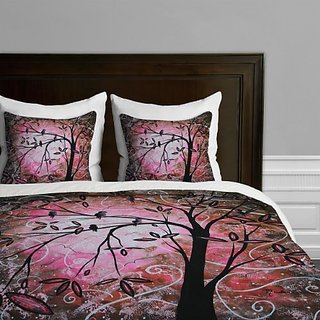 DENY Designs Madart Cherry Blossoms Duvet Cover, Queen