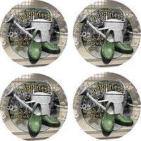 Set Of Four Nurturing Spirit Occasions Drink Coasters - Style VMM5