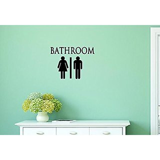 Design with Vinyl Moti 1395 1 Bathroom Symbol Door Sign Peel & Stick Wall Sticker Decal, 12