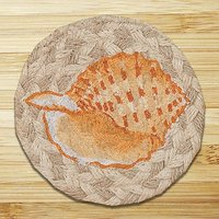 Earth Rugs 385 Sea Shell Coasters, Set Of 4