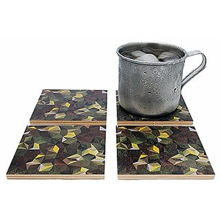 Flox Camo Style Wood Coasters