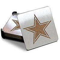 NFL Dallas Cowboys Boasters, Heavy Duty Stainless Steel Coasters, Set Of 4