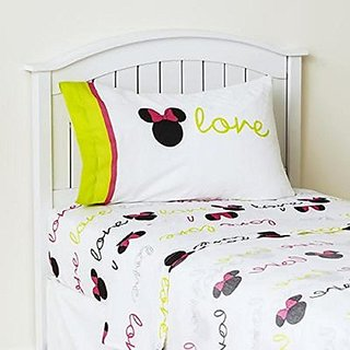 Disney Minnie Mouse Neon Full Sheet Set