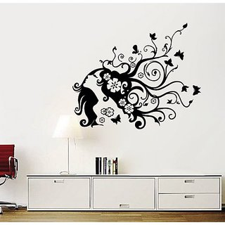 Pop Decors Removable Vinyl Art Wall Decals Mural for Nursery Room, Flower Girl