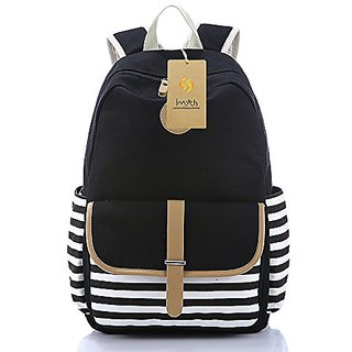 Imyth Thickened Laptop Backpack School Bag Travel Bag Daypack ( Black )