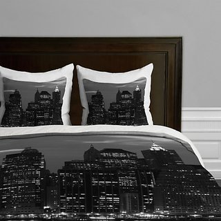 DENY Designs Leonidas Oxby New York Financial District Duvet Cover, King