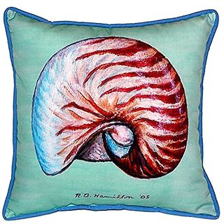 Betsy Drake Nautilus Indoor/Outdoor Pillow, 18