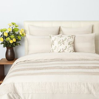 Oake Bedding, WOVEN PLEAT Twin Duvet Cover