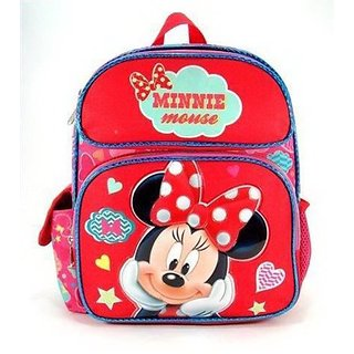 Small Size Red and Pink Daydream Minnie Mouse Kids Backpack