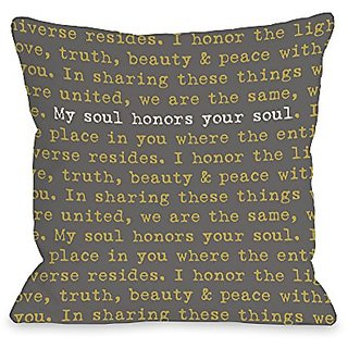 Bentin Home Decor My Soul Your Soul Throw Pillow by OBC, 18