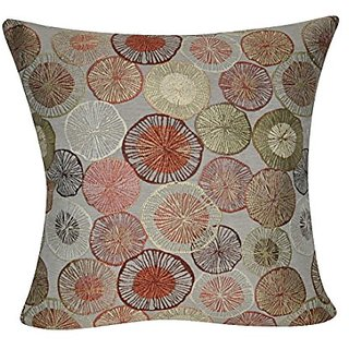 Loom & Mill P0238-2222P Coral Circles Decorative Pillow, 22 x 22