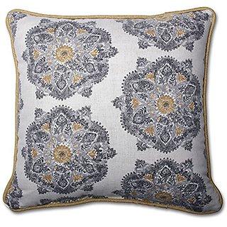 Pillow Perfect Suri Medallion Greystone 16.5-Inch Throw Pillow