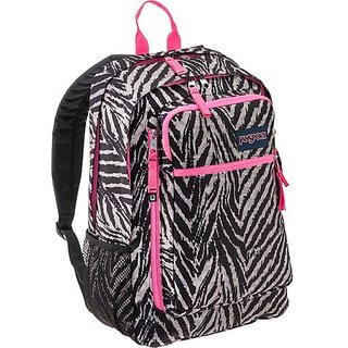 JanSport Frequency Backpack Black/Grey Zebra