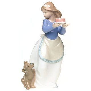 Nao Puppys Birthday Porcelain Figurine