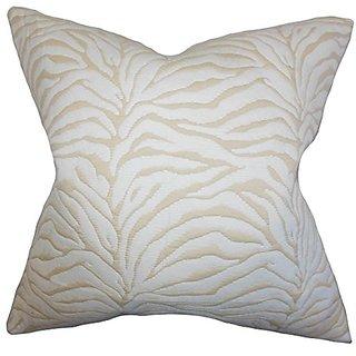 The Pillow Collection P20-ART-PRS-FLMA-IVY Danya Geometric Pillow, White, 20