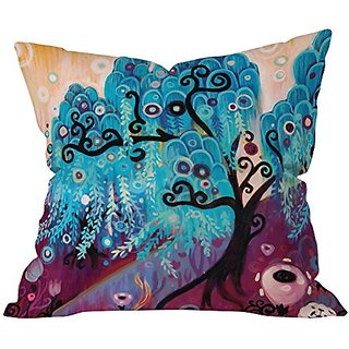 DENY Designs Natasha Wescoat Willow Blue Throw Pillow, 26 x 26
