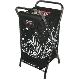 Laundry Bag Curls White Steel Frame & Designer Printed