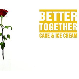 Design with Vinyl Moti 1776 3 Better Together Cake & Ice Cream Kitchen Food Quote Peel & Stick Wall Sticker Decal, 30