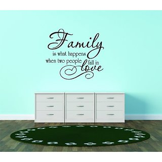 Design with Vinyl Family Is What Happens When Two People Fall In Love Picture Art - Living Room - Peel & Stick Sticker