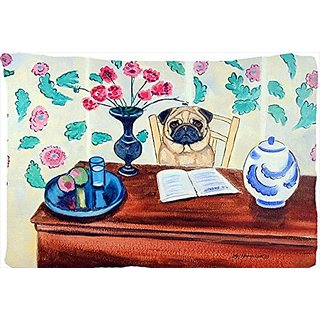 Carolines Treasures 7253PILLOWCASE Pug Moisture Wicking Fabric Standard Pillowcase, Large, Multicolor