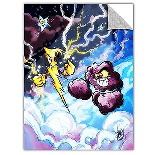 ArtWall ArtApeelz Luis Peres Lightning Removable Wall Art Graphic, 14 by 18-Inch