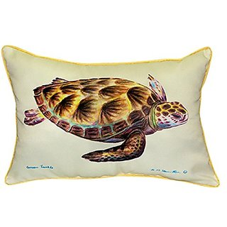 Betsy Drake Green Sea Turtle Pillow, 20