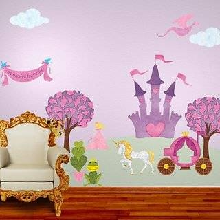 My Wonderful Walls Princess with Fair Skin and Blonde Hair Wall Decals Stickers for Girls Room Wall Mural