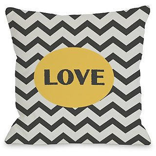 Bentin Home Decor Love Chevron Throw Pillow by OBC, 20