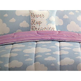 Never Stop Dreaming Reversible Cloud Comforter and Pillow Set Full Size
