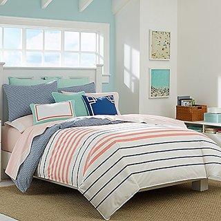 Nautica Comforter Set, King, Staysail Coral