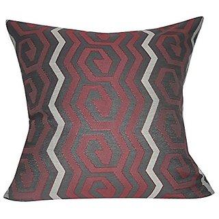 Loom & Mill P0374-2222P Red Geometric Decorative Pillow, 22 x 22