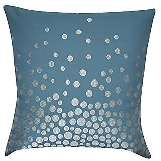 Loom & Mill P0214-2222P Blue Fading Circles Decorative Pillow, 22 x 22