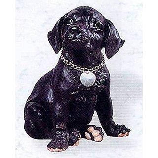 Retired C & F Trading Sitting Black Labrador (Lab) Figurine